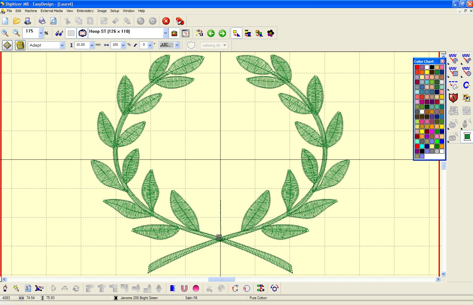 COMPUTER EMBROIDERY SOFTWARE