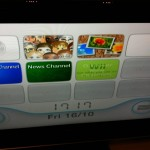 The Wii home screen is not a car.