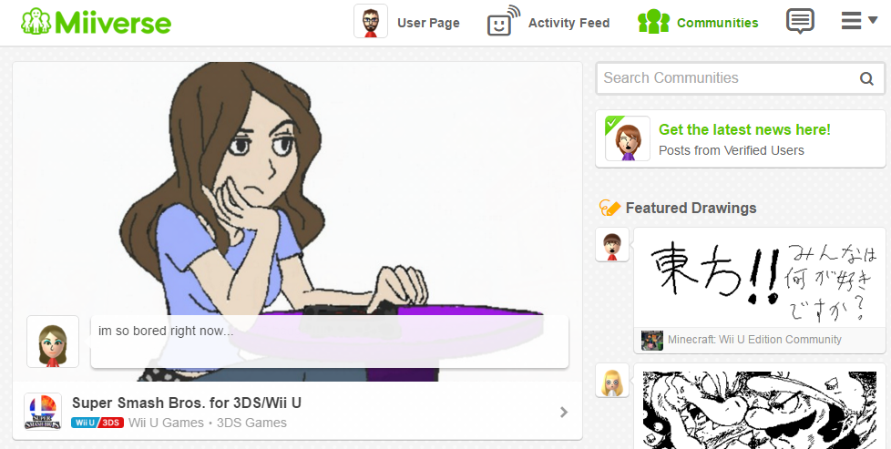 Miiverse vs Tropes in Video Games