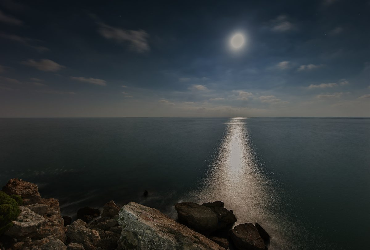 The Moon and the Deep Blue Sea