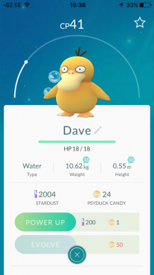 Dave can't swim