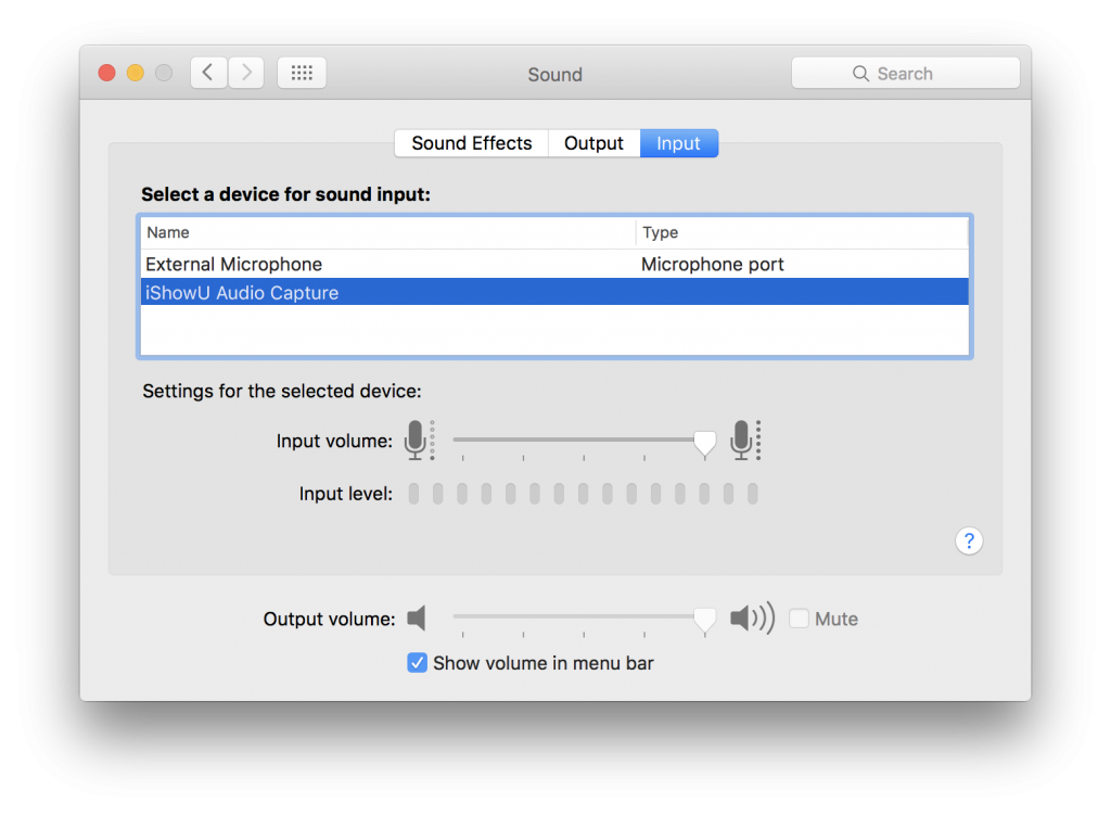 obs mac audio