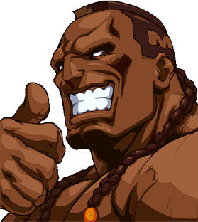 DeeJay Maximum from Super Street Fighter II has a chin that looks unbreakable. He probably uses it to open beer bottles. It may not be the biggest, but size isn't everything.