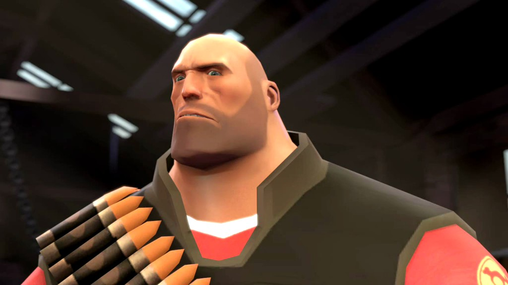 Rivalling Ben for wood-smoothing duty is this chin from Team Fortress' Heavy. So angular! So manly! Mmm.