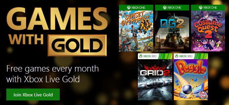 Xbox Live Gold, free, only it isn't
