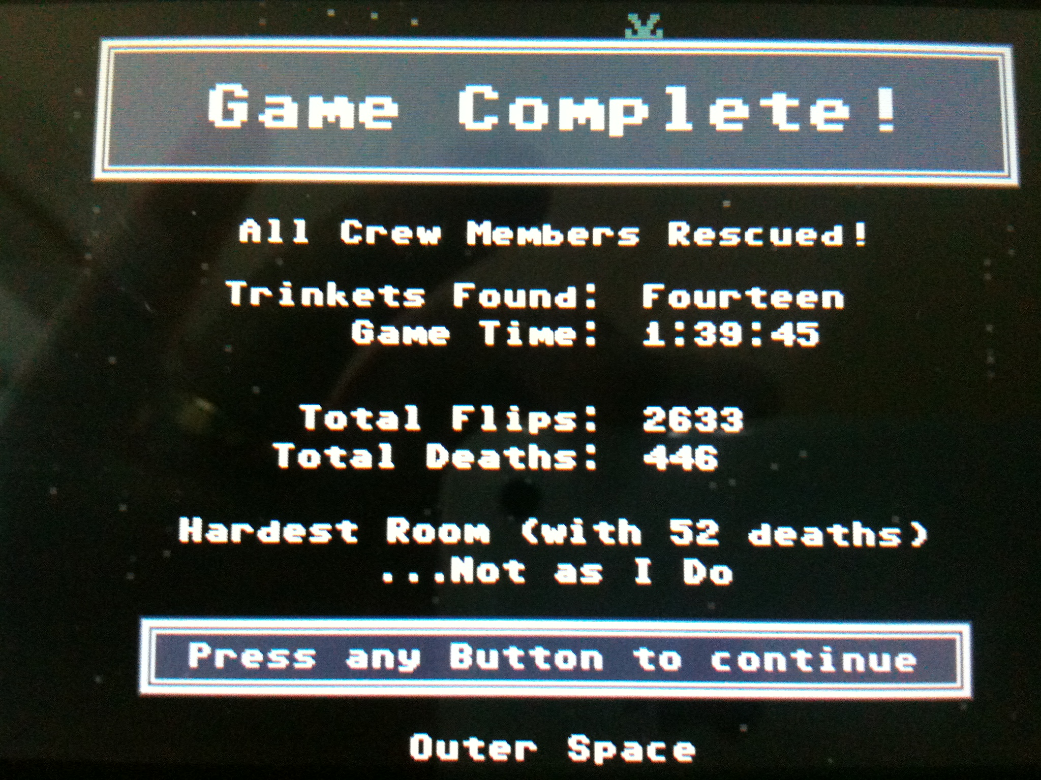 VVVVVV (3DS): COMPLETED!