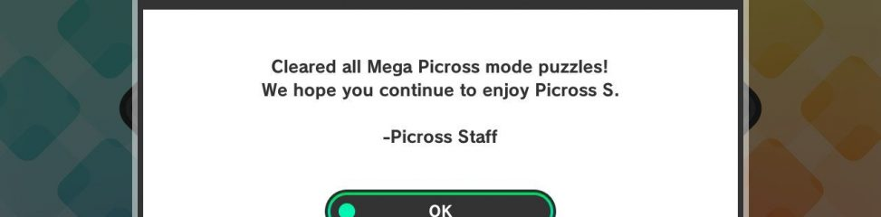 Picross S (Switch): COMPLETED!