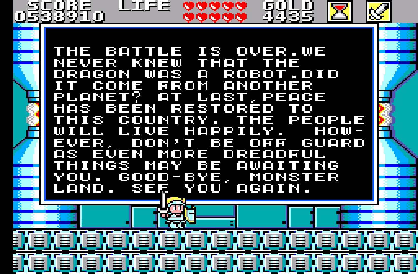 Wonder Boy in Monster Land (MS): COMPLETED!