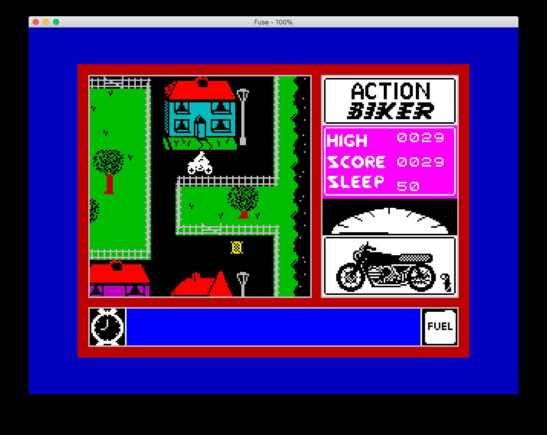 Action Biker (Spectrum): COMPLETED!