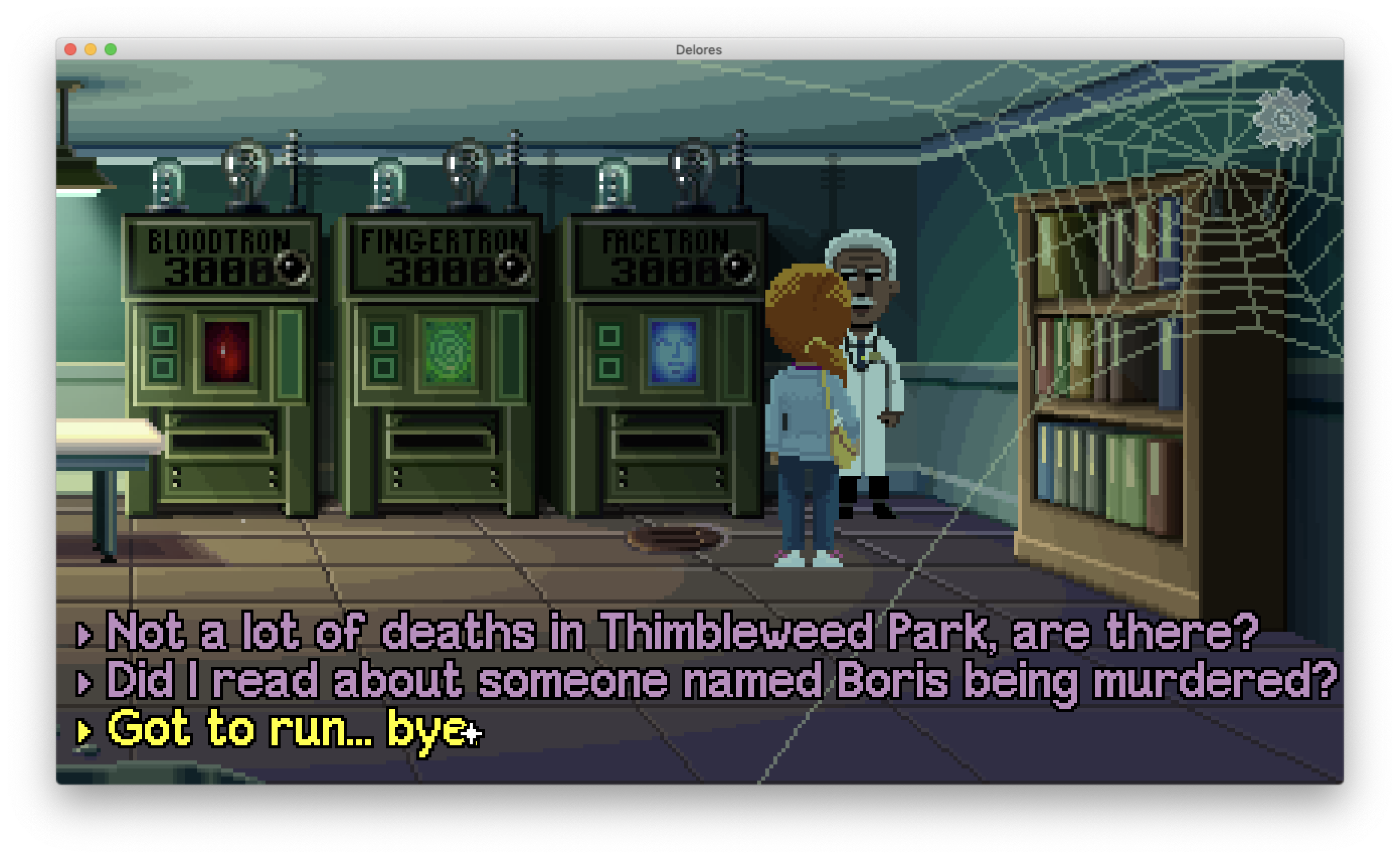 Delores: A Thimbleweed Park Mini-Adventure (Mac): COMPLETED!